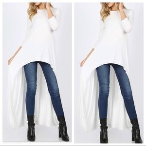 Dresses & Skirts - High low winter white tunic dress